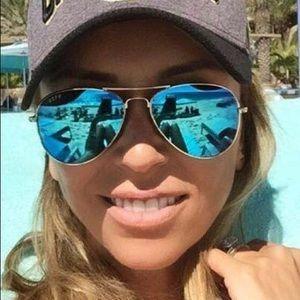 Diff Eyewear Cruz Blue Lenses Silver Frame